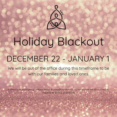 holiday blackout