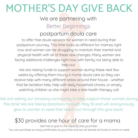 Mother's Day Giveback