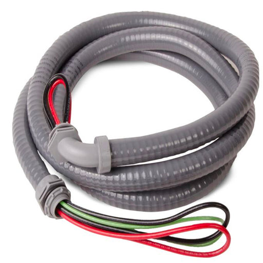 Electrical AC Whip 1/2 Inch x 6ft #10 Gauge