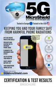 5G MicroShield - 3G, 4G, 5G and EMF protection card (visit our www.5gmicroshield.com for more details, and 6%- 12%Discounts)