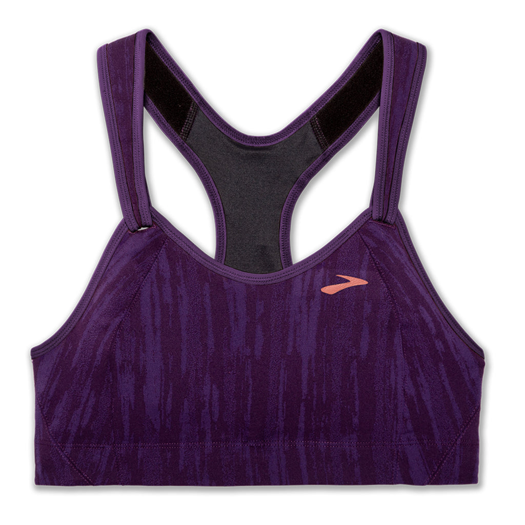 Brook Rebound Racer Sports Bra - Berry Jacquard