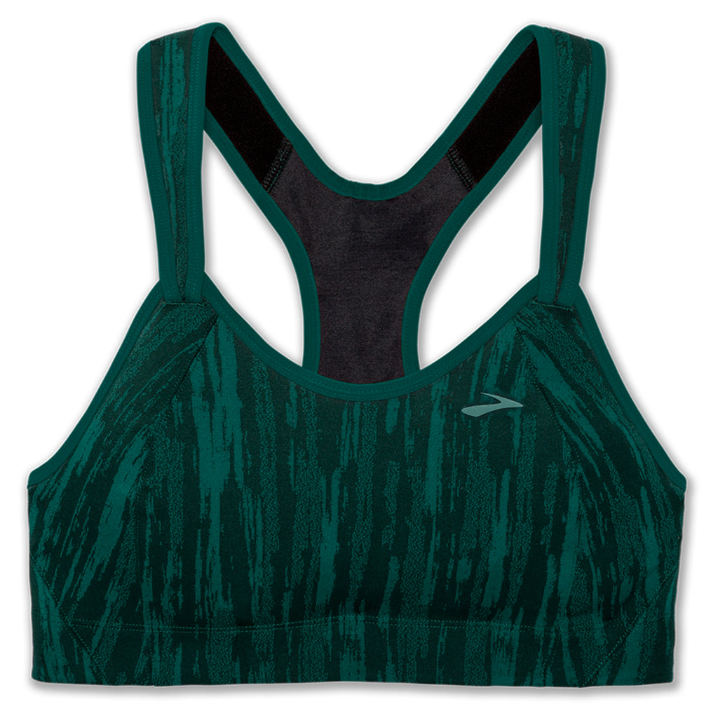 Brooks Rebound Racer Sports Bra - Forest Jacquard