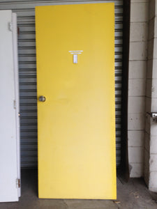 Yellow And White Door #611