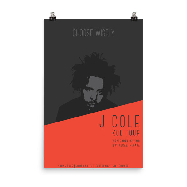 J Cole KOD Tour Poster Remixd - ancille