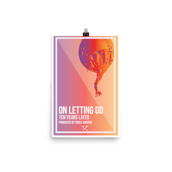 On Letting Go Remixd 10 Year Anniversary Poster - ancille