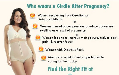 What are the main benefits of using the girdle after delivery?