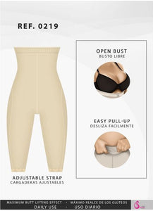 Fajas Salome 0219 Hight Waist Compression Shorts for Women Everyday Shapewear Fajas Salome