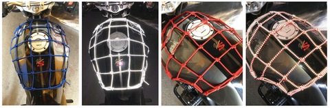 Reflective Cargo Net for Motorcycles, ATVs and Bicycles