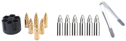 Gold and Silver Whisky Bullet Sets