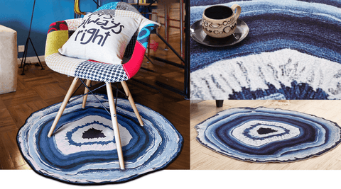 Blue Agate Accent Rug