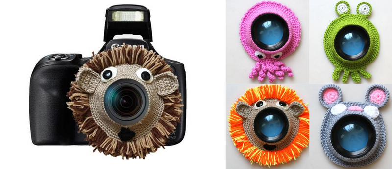 Knitted Camera Buddies - Children's