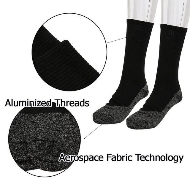 HeatLuxury™ - Aluminized Thread, Soft Knit Warming Socks - Westello