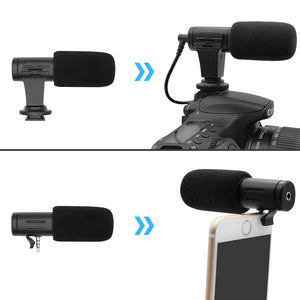 MicFirst™ - Video Microphone for DSLRs, Cameras, and Phones - Westello