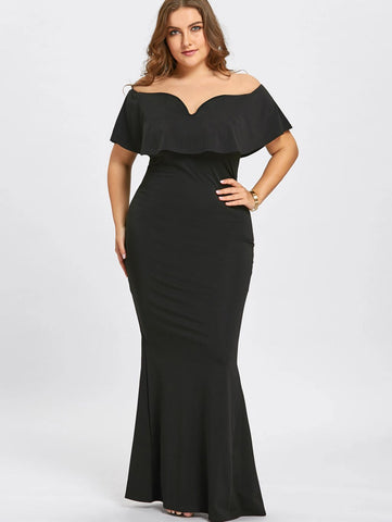 Off The Shoulder plus size Mermaid Dress