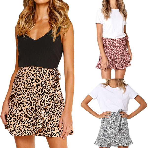Casual Retro High Waist Party Short skirts