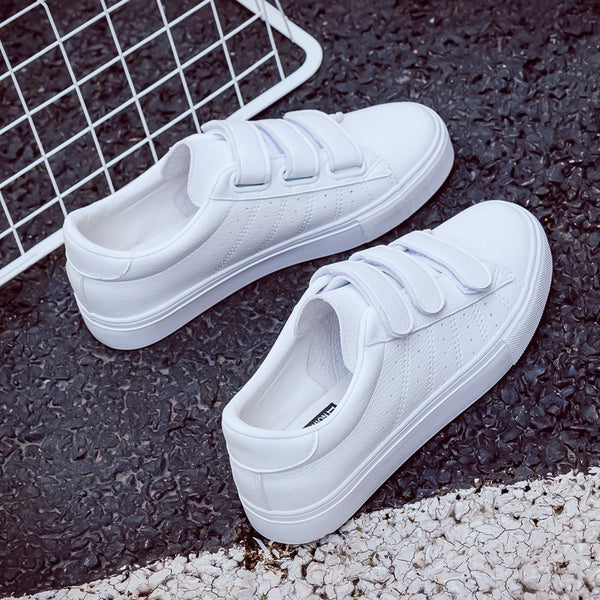 Casual High Platform Leather Striped Sneakers