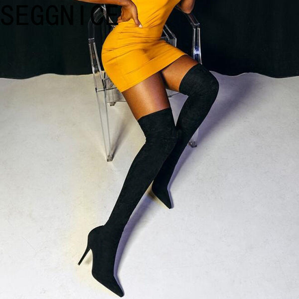 Thigh High Heel Over Knee Boots