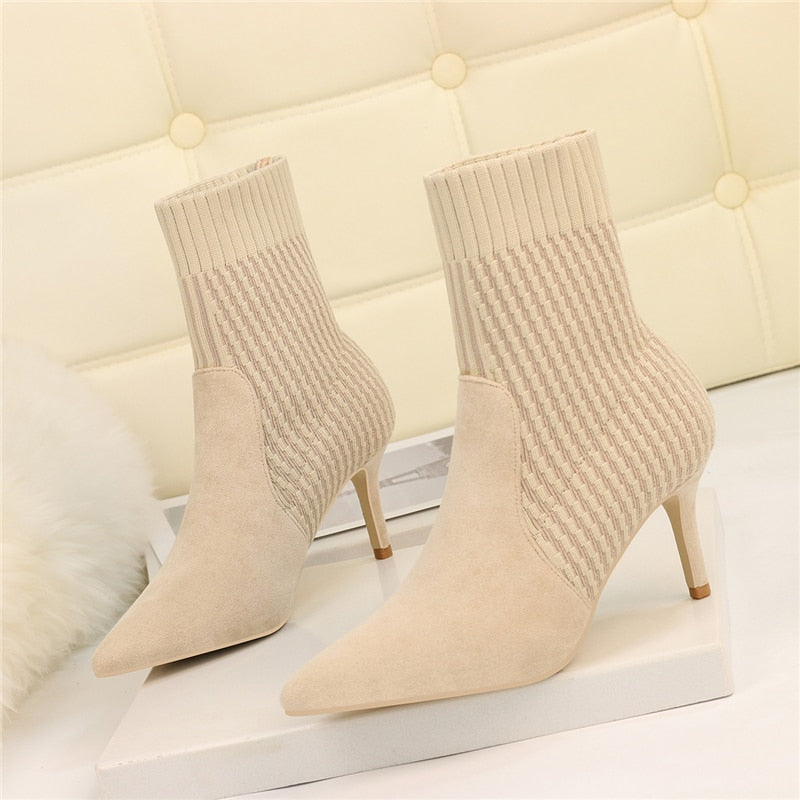 Thin High Heels Pointed Toe Boots