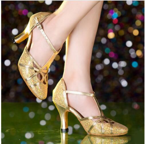 Elegant Toe Salsa Shoes High Heel
