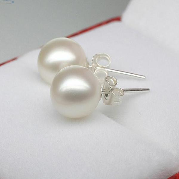 Fashion Women wedding earning Silver Crystal Pearl Ear Earring Jewelry