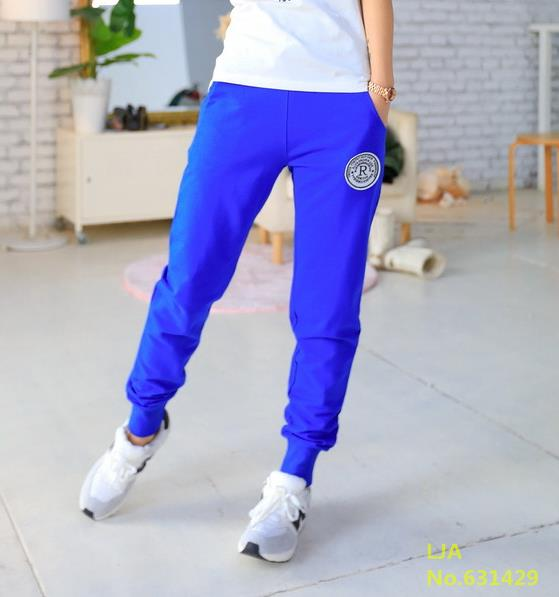 Pants Women  Casual Thin Trousers Length blue