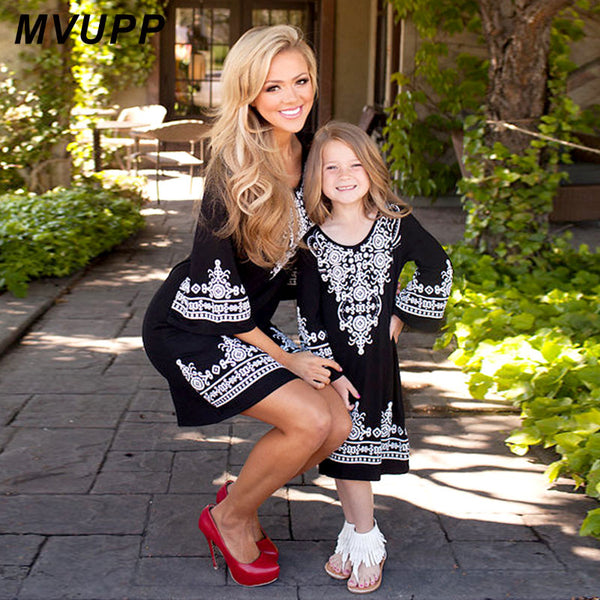 Elegant Outfits Mother Daughter Dress