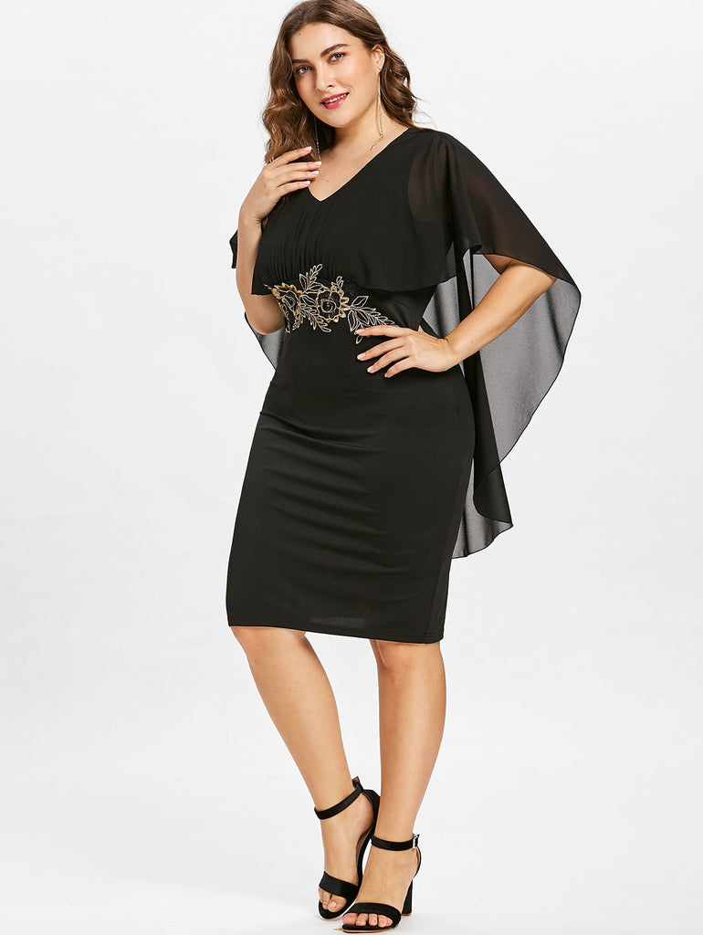 Women Fashions  Half Sleeves Sheath Dress