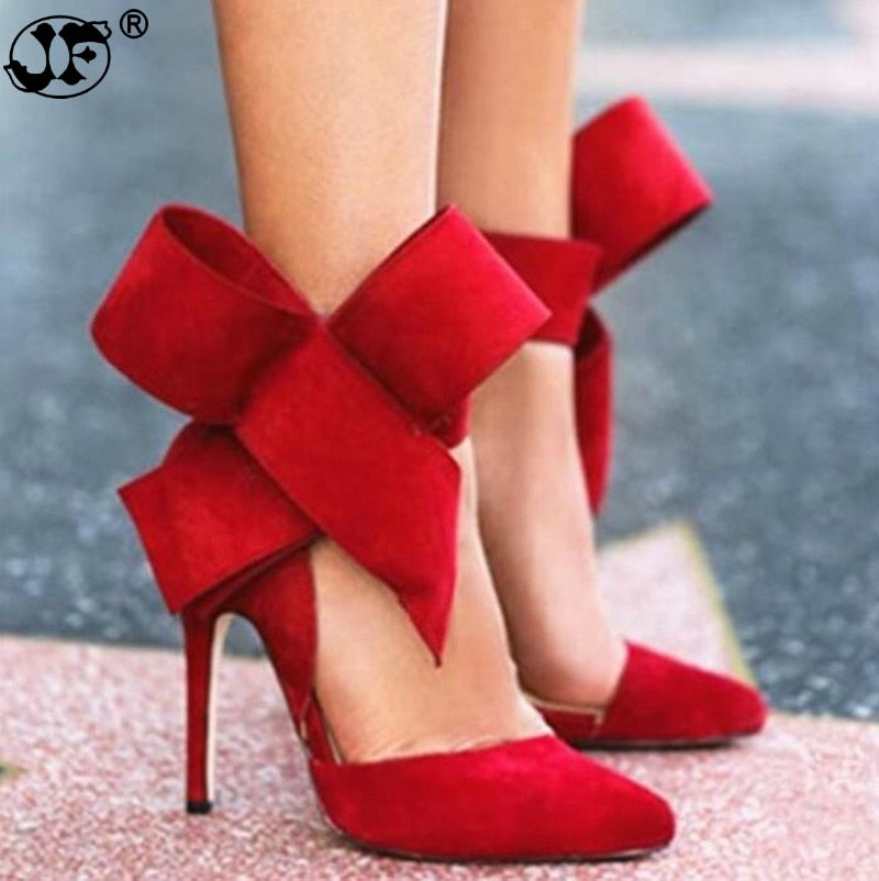 Butterfly Pointed Stiletto Shoes