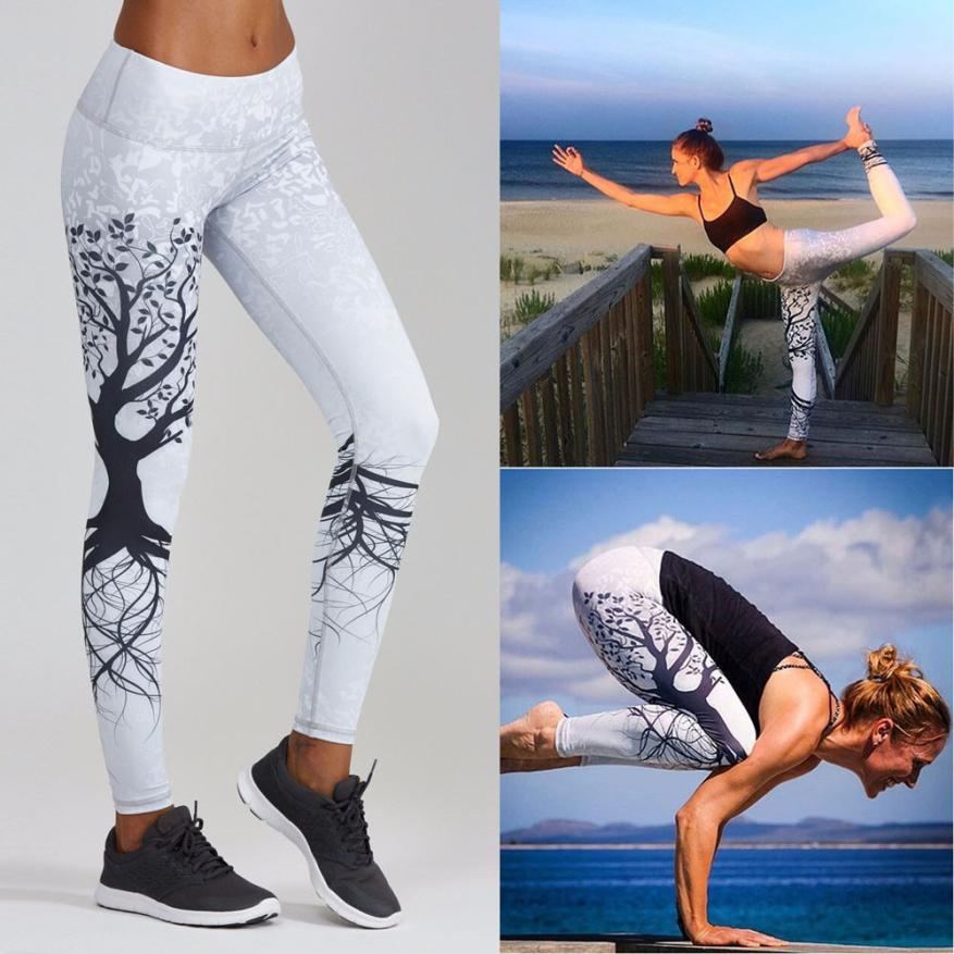 Printed yoga pants sport leggings
