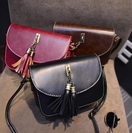 Women color trendy satchel handbag