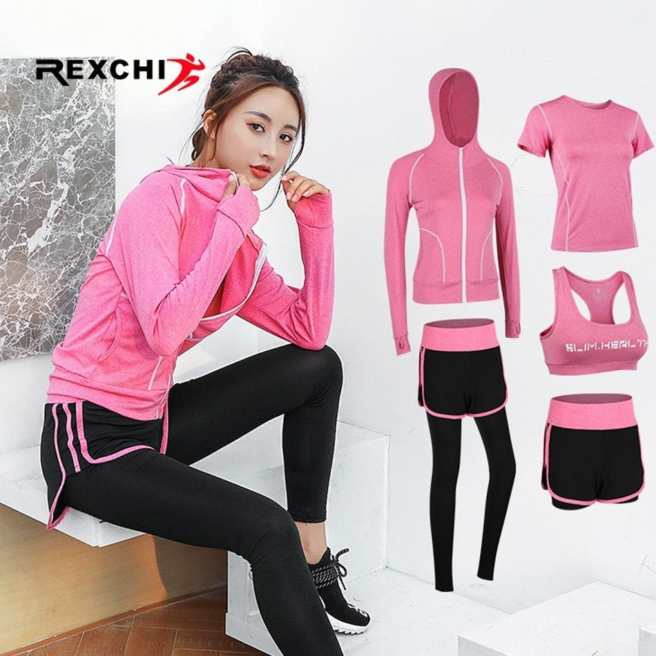Gym Fitness Suit for Outdoor Running black