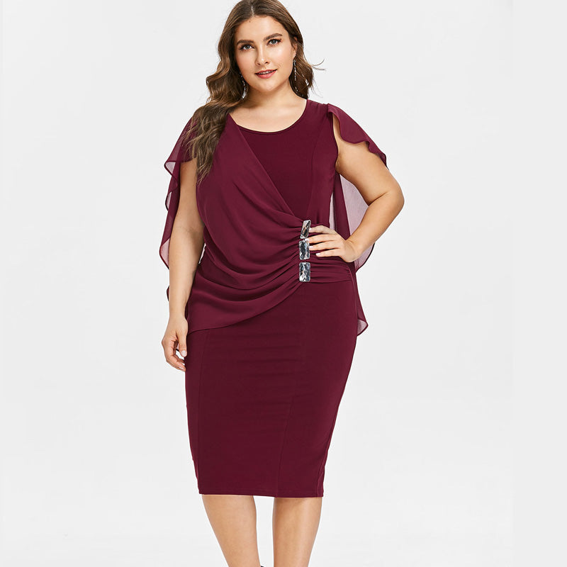 Plus Size Knee Party Dress