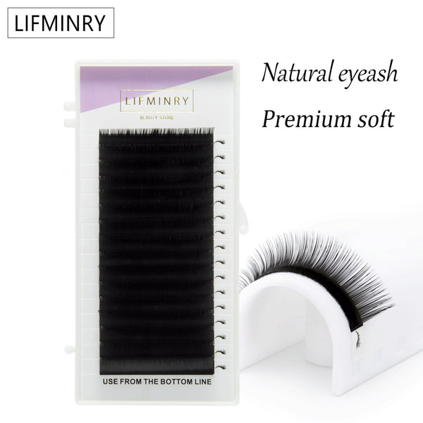 High quality eyelash extension mink individual eyelash extension natural eyelashes false eyelashes free shippiping