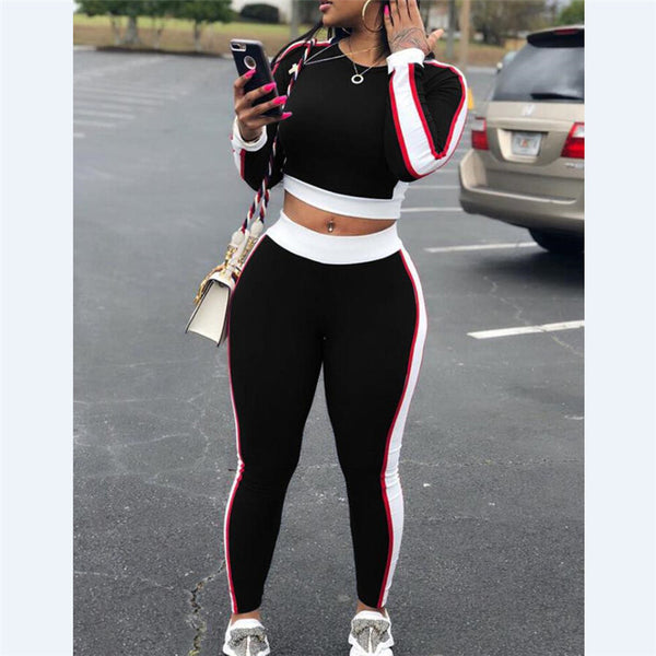 Sexy Women Tracksuit Fashion Top Pants Outfit