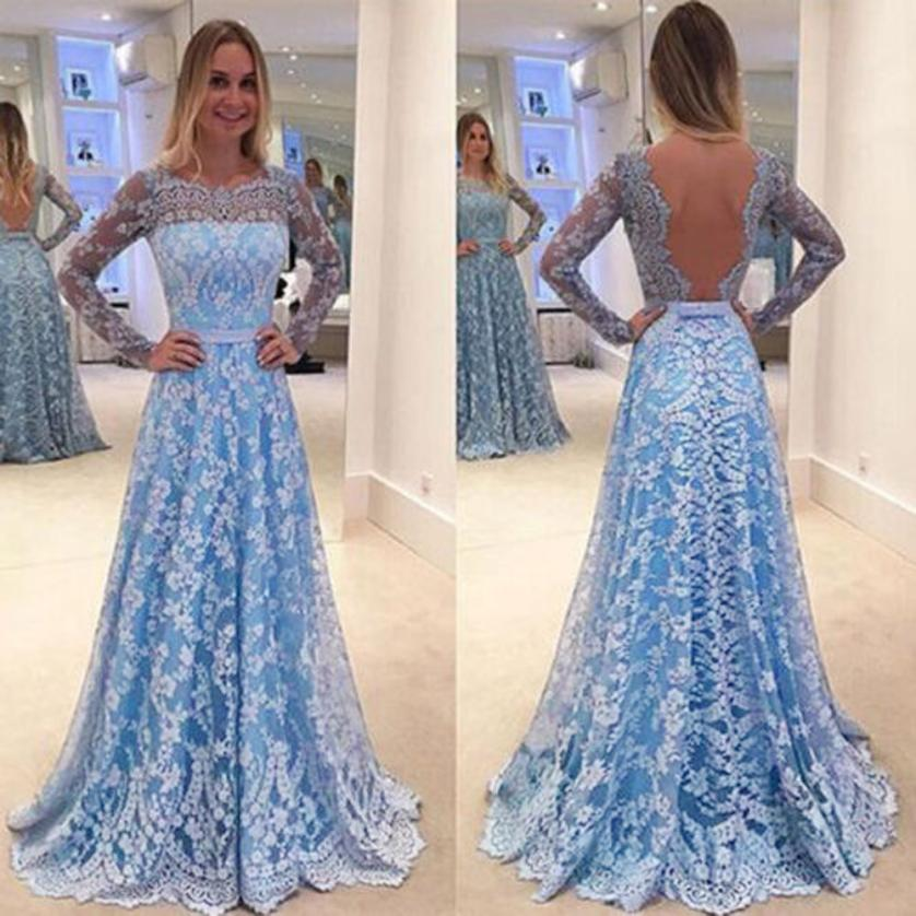 Long Evening Party Prom Gown Dress women