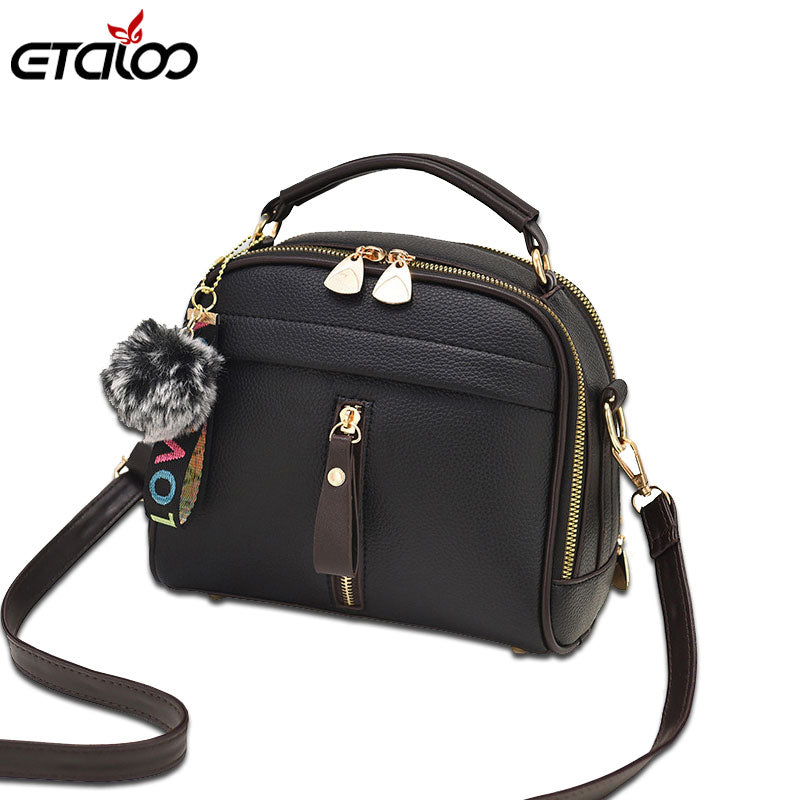 Women Handbag Leather Bags With Ball Toy Female