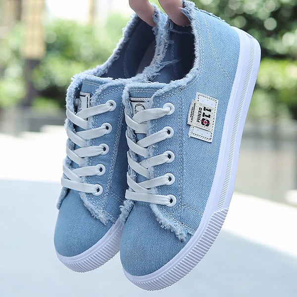 Lace-up Superstar Canvas Sneakers