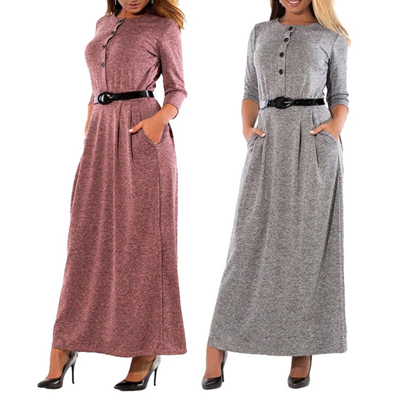 Maxi Dress Women Office Work Dress