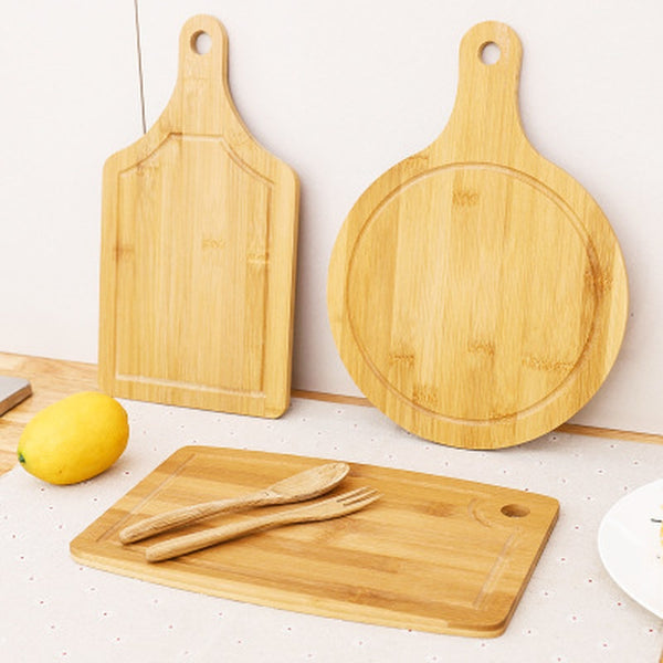 Square Round Cutting Board Bamboo
