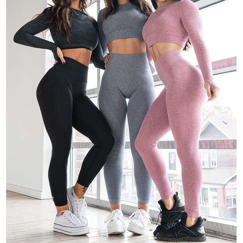 white High Waist Seamless Leggings black