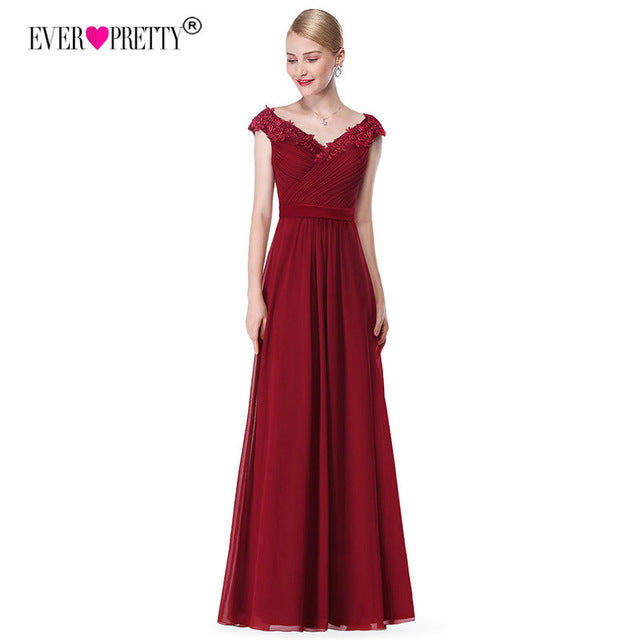 Wedding Party Gowns Ladies Lace Dress Chiffon Formal