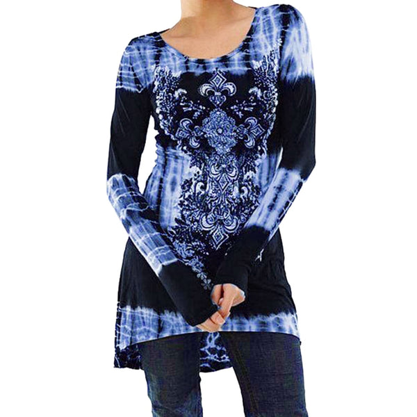 Floral Women Tunic Tops And Blouse