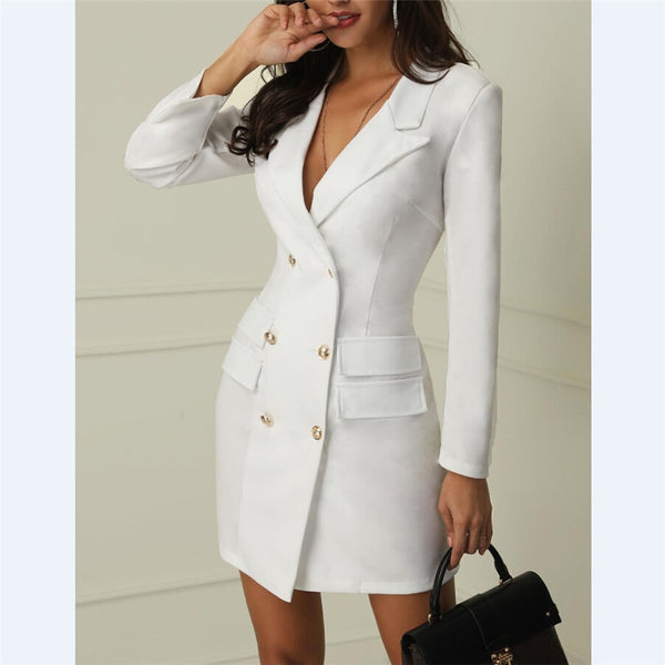 Sexy Women Long Sleeve Work Wear Dress