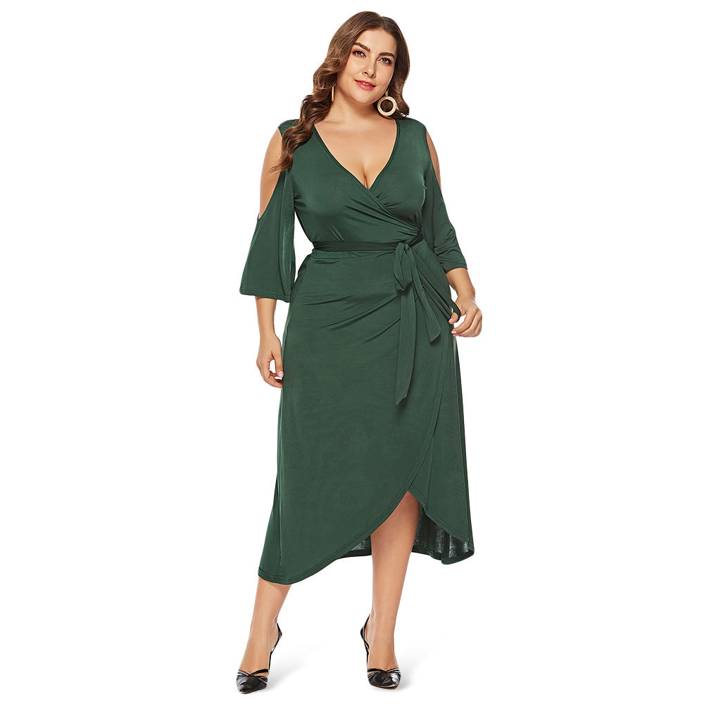 Cold Shoulder Plus Size Women Dress
