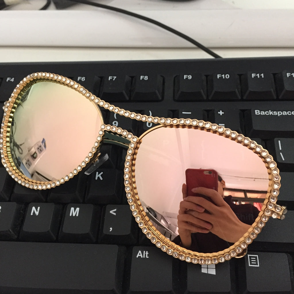 New Copper Frame Clear lens Sunglasses
