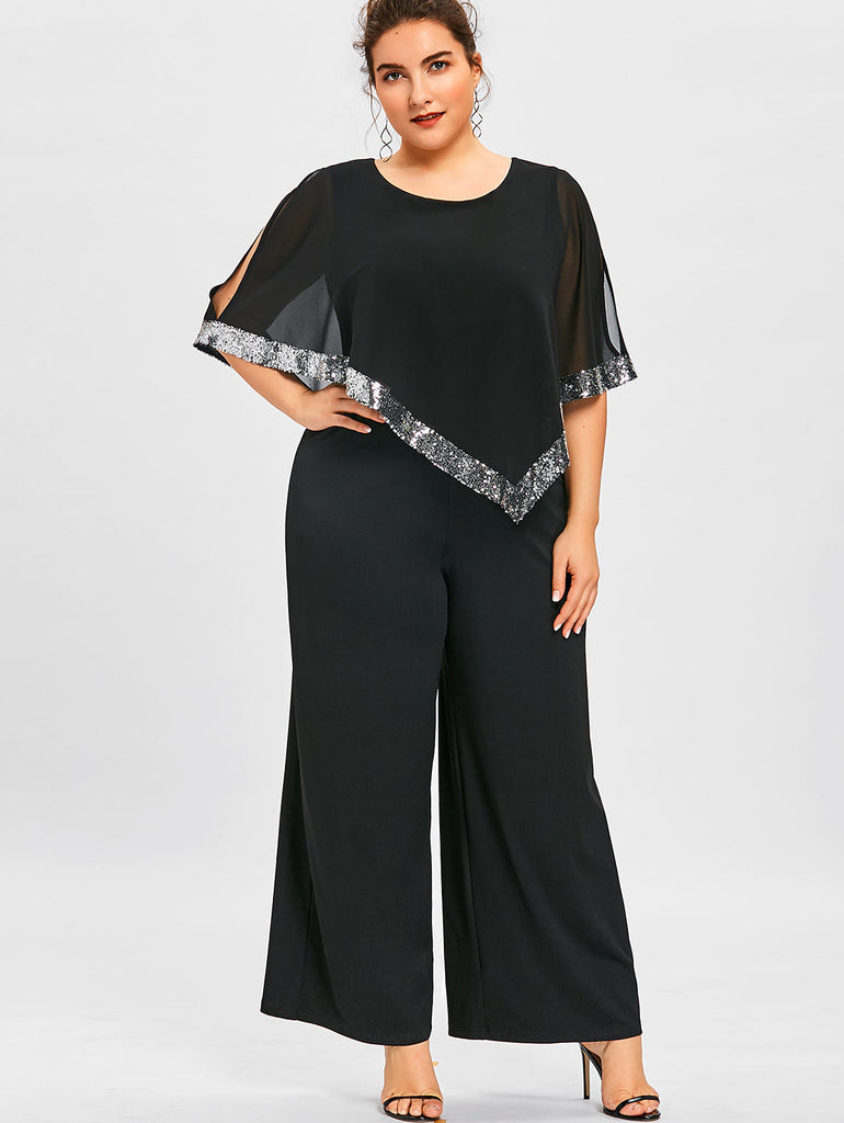 Plus Size Jumpsuit Long Pants Romper