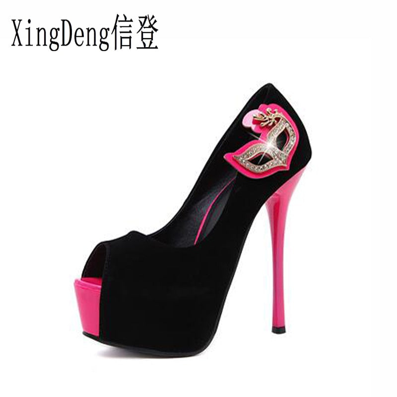 Cute high heels nightclub fish mouth Party Heel shoes