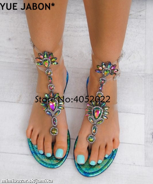 Crystal Flat Sandals Women Shoes