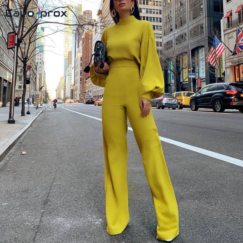 Elegant Office Lady Work wear Wide Leg Jumpsuits