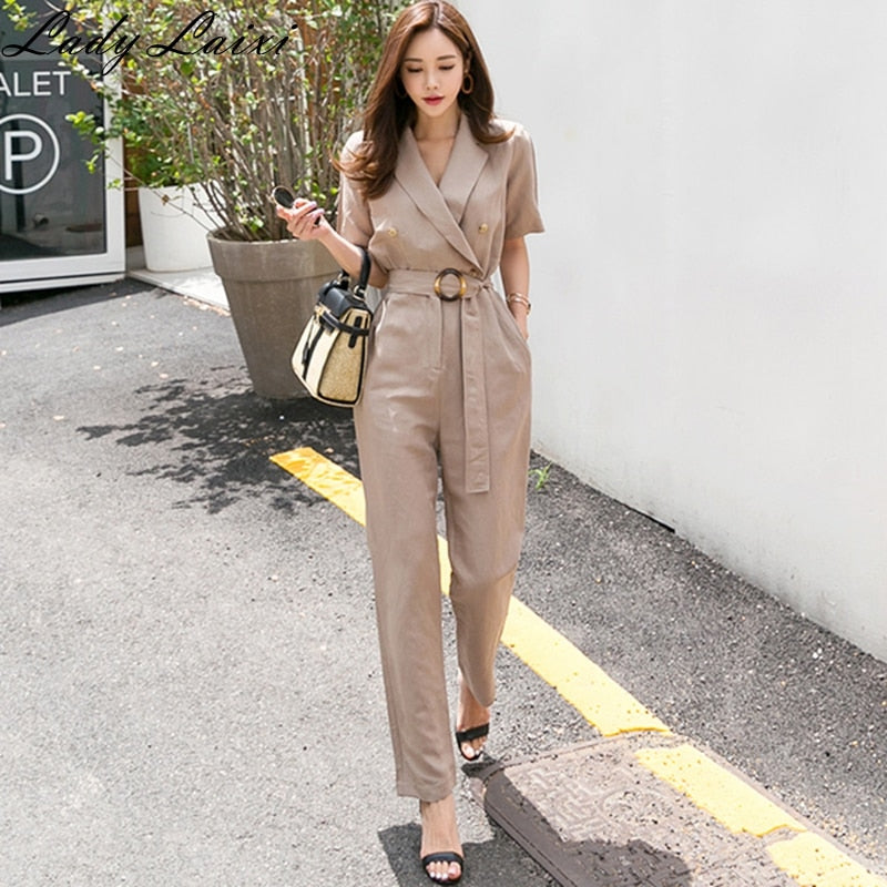 Office Lady Work Wear Rompers Jumpsuits